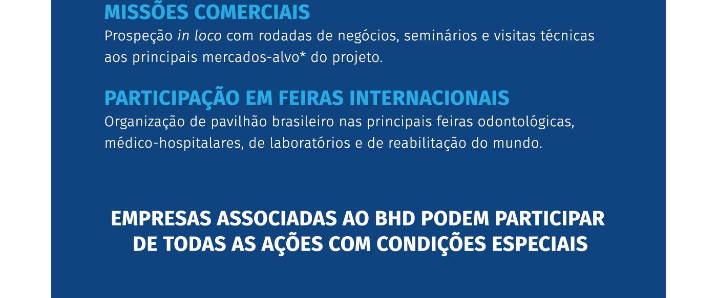 Missões comerciais e participação em feiras internacionais